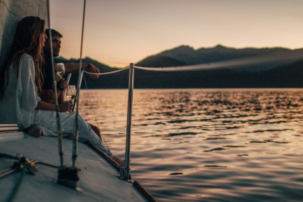Explore the clear waters of Lake Nahuel Huapi in a private sail boat